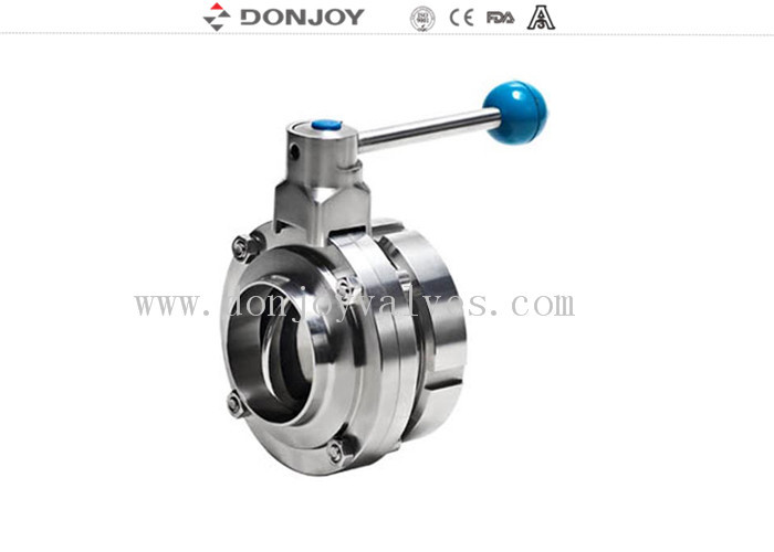 304 / 316L DN 50 Butterfly Valves Single Weld and DIN threded